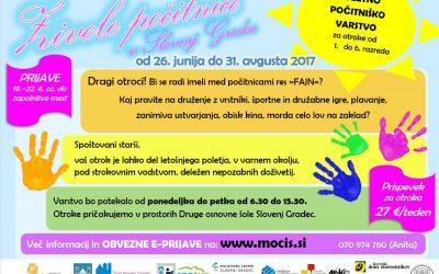 Živele počitnice v Slovenj Gradcu 2017 – Poletno varstvo otrok