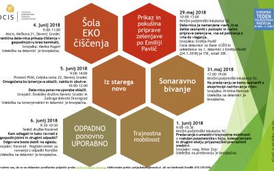 EVROPSKI TEDEN TRAJNOSTNEGA RAZVOJA 30.5.-5.6.2018