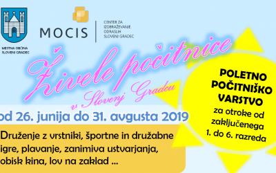 Počitniško varstvo otrok – Živele počitnice v Slovenj Gradcu 2019