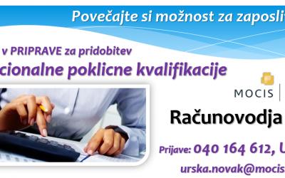 Program priprave na NPK računovodja za brezposelne osebe